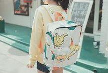 Cute bags / Korean style. New models of backbags.