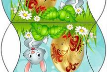 Velikonoce / Velikonoce a vše okolo, tvoření, dekorace, šablony, aktivity pro děti, hry #velikonoce #jaro #tvoření #děti #šablony #hry #škola