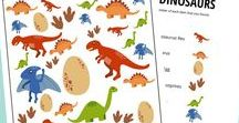 Dinosauři / Vše o dinosaurech #dinosaurus #narozeniny #šablony #zdarma #tip3dmamablog