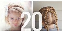 Účesy / Účesy pro delší vlasy pro nejmenší i větší #copánky #culíky #vlasy #drdol #děti #tip3dmamablog