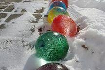 SNÍH, LED / Tvoření a pokusy z ledu a sněhu #sníh #led #rodina #tvoření #děti #dekorace #pokusy #tip3dmamablog