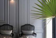 GREY / gray interiors, grey interiors, shades of grey, grey interior design, grey living room, grey dining room,