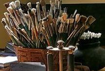 Art Tools & Supplies / I love pictures of art tools and supplies almost more than having any!