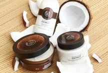 Coconut Body Care / Our Coconut range will lavish your body with moisture and a tropical fragrance. It's bursting with Community Fair Trade organic virgin coconut oil from the island of Samoa, where it's cold pressed from fresh coconuts.