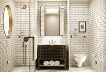 Upstairs bathroom reno / Bathrooms  / by Kristen G