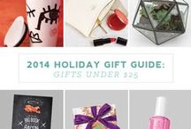 HOLIDAY GIFT GUIDES // 2014 / Holiday Gift Guides - Christmas Gift Ideas / by Kayla Close