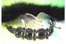 Czech Rhinestone Necklaces/Chokers / Unique pieces, handmade, high quality.