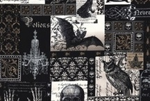 Nevermore  / 100% cotton patchwork/quilting fabrics / by Frankenstein's Fabrics