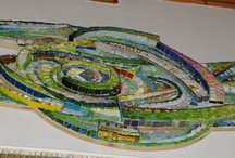 MENOSSI'S MOSAICS / mosaics created with smalti, marbles, millefiori, ceramics and other kinds of materials that the artist could think.