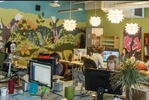 Inspirational Office Spaces / Say farewell to the ugly grey cubicle! The Good.Co team has found some amazing office spaces! Wouldn't you like to work in one of these?