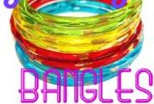 Vintage Czech Glass Bangles / Made by Riedel in Northern Bohemia between 1900 and 1920.