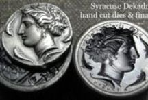 Hand minted ancient coin replicas / Our coin replicas are minted from handmade dies for a uniquely beautiful and accurately detailed finish in comparison to their ancient originals. We achieve this quality by using historical minting procedures. We produce precise in style, manually struck replicas of historic coins from common metals (aluminium, brass, copper, tin), silver and gold. More coins: http://www.antiquanova.com