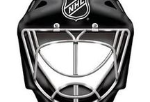 Ice Hockey || Goalie Helmets / Photos of all diffrent types of Ice Hockey Goalie helment designs