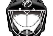 Ice Hockey    Goalie Helmets / Photos of all diffrent types of Ice Hockey Goalie helment designs