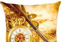 Almofadas Relogios / Conheça a linha de Almofadas Vintage Luisa Decor
