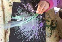 Art Studio at CMP / Get quick, easy and budget friendly art ideas and inspirations for toddlers and preschoolers! Great way to include art and creativity in your lesson plan or homeschool plans!