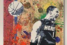 Basketball (NBA) ART / #Basketball #NBA #Artwork #Art #Sport #Inspiration / by Timo Wonnink Media