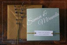 Unieke trouwkaarten / Trouwkaarten met karakter! Origineel en stijlvol door papier met linnen textuur.