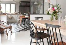 Cuisine et salon / Idée deco pour l'aménagement du rez de chaussée