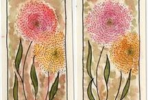 Marcadores de página / Marcadores de página pintados à mão por Jacilene S.