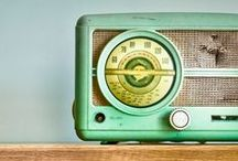 Radios / Being a former radio jock and current podcaster and voice over artist, I love funky Radios from vintage to mod. Radio's with STYLE! Not many jocks could live up to the boxes they performed in...
