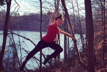Nature Acrobatics / Using nature as our jungle gym connects us to the earth and allows us to use our strength balance and flexibility in a peaceful serene setting with an abundance of fresh air...ahh what could be better? Go on, go climb a tree!