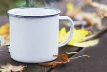 Tea in Autumn / Autumn is the wonderful season of sipping tea, while cuddling with your blanket, holding the hot cup of tea in hands and watching the leaves fall. A vivid tea dream!
