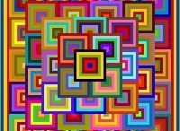 Solids & Rainbows / Colourful quilts made with solids