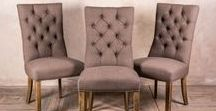 Upholstered furniture / Exclusive range of hand finished and upholstered French style button back benches, dining chairs, armchairs and sofas
