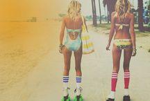 Roller skates + Skateboards / Fun on four wheels.