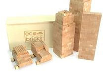 Eco-bricks / 100% Wooden Compatible Bricks. Made from Eco-friendly cherry wood