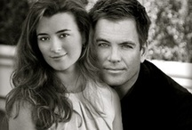 Coté de Pablo & Michael Weatherly / You may know them as Ziva David and Anthony 'Tony' DiNozzo or Tiva on NCIS ;)