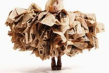 Recycled Runway Project Inspiration / Inspiration to get you started on recycled, remade, reinvented artistic fashions!