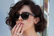 cabelo / Cool hair ideas! Short hair, curly hair, wavy hair, purple hair, blue hair...
