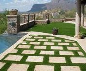 Backyard Paradise / Using artificial grass and other fun things. Free artificial grass estimates at www.ParadiseGreens.com