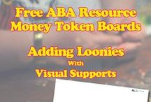 Free Money Tokens Boards / The Free Money Token Boards can be used for children with Autism, not only as positive reinforcement, but also to indirectly learn to identify coins, and simple adding.