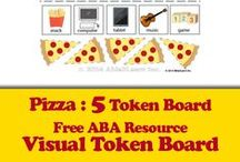 Free Token Boards / Picture Token Boards can be used, not only to as positive reinforcement, but also to learn the parts of an object, and to develop speech.