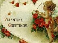 Cartes anciennes Anges Saint Valentin