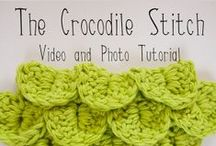 CROCHET: Stitches- Crocodile / Crochet Stitches- Crocodile / by Lady Katie