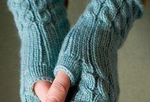 gloves knit, crochet / Kötött, horgolt  kesztyűk,