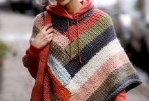 Poncho  knit, crochet / kötött, horgolt poncsók