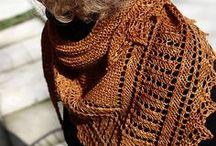 shawlette, shawl, wrap  knitting, crochet / kötött, horgolt kendők