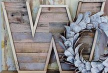 Creativity with Pallets / Various ideas on ways to up-cycle wooden pallets into furniture, signs and other home decor!