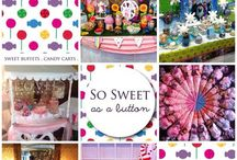 """So sweet as a button"" Facebook page kids sweet buffets and goodies / Here is a few of my sweet page designs hope you like them :-)"