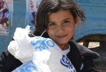 Charities We Support #Fundraising / All about the humanitarians who are delivering aid packages, giving medical care, and emotional support to the children and families either trapped by war, or fleeing from war.
