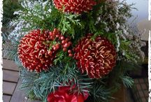 Wszystkich Świętych - wianki i stroiki / Wiązanki na grób, stroiki, wianki, pogrzebowe, funeral, wszystkich świętych, święto zmarłych, flora,  kwiaty,  dekoracje własne