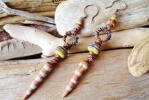 Earrings by Yeelen Spirit / My own  handcrafted Earrings, A Soulful Journey!