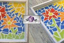 Mosaic / Some inspiration, nice examples and tips to make your own mosaic. Inspiratie, voorbeelden van mooie mozaiekwerken en tips voor thuis.