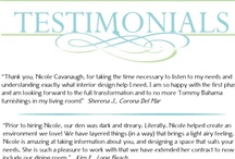 Testimonials / Testimonials are one way to understand the benefit of our interior design services. We are proud to share a sampling of several testimonials from past clients...