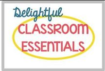 Classroom Essentials / This is a board for the essential items that I will need for my classroom. Homework folder covers, calendar cards, group signs, bulletin board decorations, and etc!